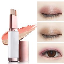 2017 Korean Eye Shadow Stick Double Color Gradient Eyes Makeup Cream Natural Naked Shimmer Glitter Eyeshadow Pencil FM88