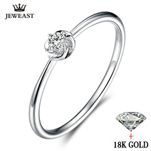 2017 New Ring 18k Pure Gold Wedding Real 750 Solid Fashion Classic Trendy Women Hot Selling Present Customizable Party