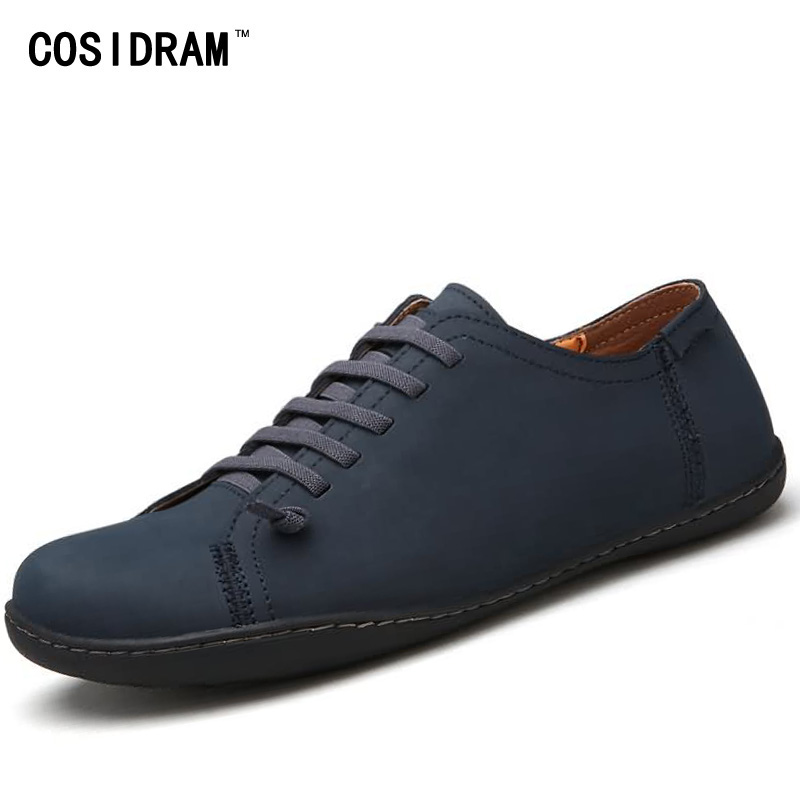 COSIDRAM 2017 Split Leather AAA Men Casual Shoes Autumn Fashion Men Shoes Flats Male Footwear British Style Leisure RMC-018<br>