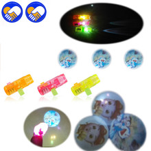 A TOY A DREAM 3Pcs Colorful LED Finger Projection Different Cartoon Anime pattern Lights Light-up Rings Party Gadgets Kids Toys(China)