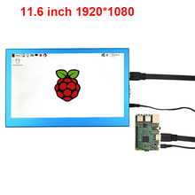 New 11.6 inch 1920*1080 LCD Display Monitor Metal Case HD HDMI/VGA Interface Display for Raspberry Pi 3 for PS3PS4 XBOX360