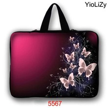 print butterfly Tablet Bag Mini PC cover Laptop Sleeve 9.7 10.1 11.6 13.3 15.6 17.3 Ultrabook protective case Handbag LB-5567(China)