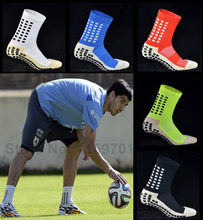 9 Colors New Anti Slip Soccer Socks Cotton Football Men Socks Calcetines The Same Type As The Trusox A001
