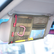 Tactical MOLLE Vehicle Visor Panel Truck Car Sun Visor Organizer CD Bag Holder Pouch Auto Accessories(China)