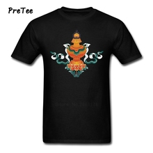 Boy T Shirt Pure Cotton buddhism Short Sleeve Crew Neck Tshirt Garment buddha Adult 2017 Modern T-shirt For Male