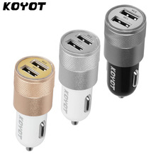 Buy KOYOT Universal Mini Dual Port USB Car Charger Smart Light Car Phone Charger iPhone 7 6S Samsung for $1.39 in AliExpress store