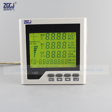 CJ-3D3Y 3 phase multifunction meter LCD display 3 phase voltage , 3 phase current line voltage W,Var,VA KWh, KVarh with RS485