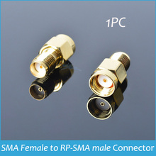 Sindax Gold Plated RF Coxial Connectors RF SMA Connector Adapter SMA Female to RP-SMA male RF Connectors 1pcs
