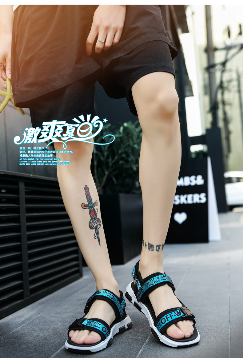 Summer Men Beach Sandals Fashion Breathable Walking Shoes Male Adult Comfortable Flat Sandals Outdoor Footwear Chaussures Homme 22 Online shopping Bangladesh