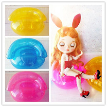 New Arrival 3pcs/lot Doll's Inflatable Water Sofa Accessories for 1/6 Blyth Pullip Barbies Monster Doll(China)