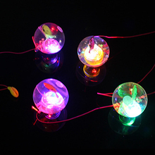 2pcs/lot Kids Toys Light Ball Toy 5.5cm Diameter Glitter Light Up Bouncy Ball Rubber Flash Led Jumping Ball Christmas Party Gift
