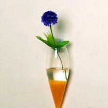 2018 приостановлено гидропоники вазы цилиндр ясно Стекло стене висит ваза бутылка для растений цветок Аксессуары(China)
