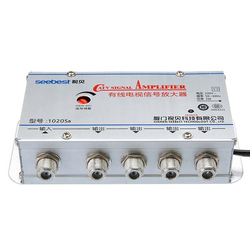 4-Wege Port HDTV TV Antennen Signal Verstärker TV CATV Kabel Booster Splitter