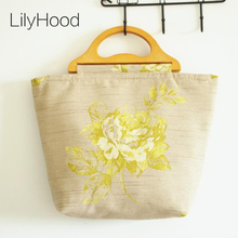 2017 Women Floral Embroidery Big Fabric Totes Handmade Trendy Top Handle Old Folk Ethnic China Fabulous Stylish Book Handbag