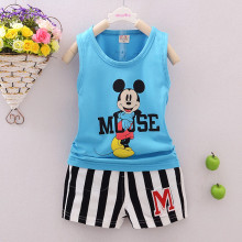 2017 Children Boys Clothing Sets Kids Vest T Shirts + Shorts Pants 2Pcs Sets Baby boys Mouse Clothes Suits roupas infantis