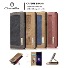 For Samsung S8 Plus S7 S6 Edge CaseMe Retro Leisure Canvas Denim WateProof Wallet Stand Phone Case Flip Magnetic Cowboy Cover(China)