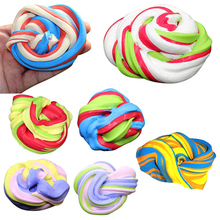 30g Dynamic Kinetic Fluffy Slime Floam Lizun Light Clay Modeling Polymer Clay Kid Sand Plasticine Hand Gum Classic Education Toy(China)