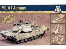 ITALERI 6438 1/35 Scale  M1 A1 Abrams Main Battle Tank [with Highly Detailed Resin Parts] Plastic Model Building Kit