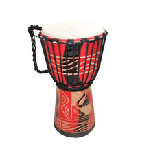 Orff world 8/10 inch Djembe Goat Skin Wooden African Drum Percussion Musical Instrument For Children Practice Rhythm Beginners(China)