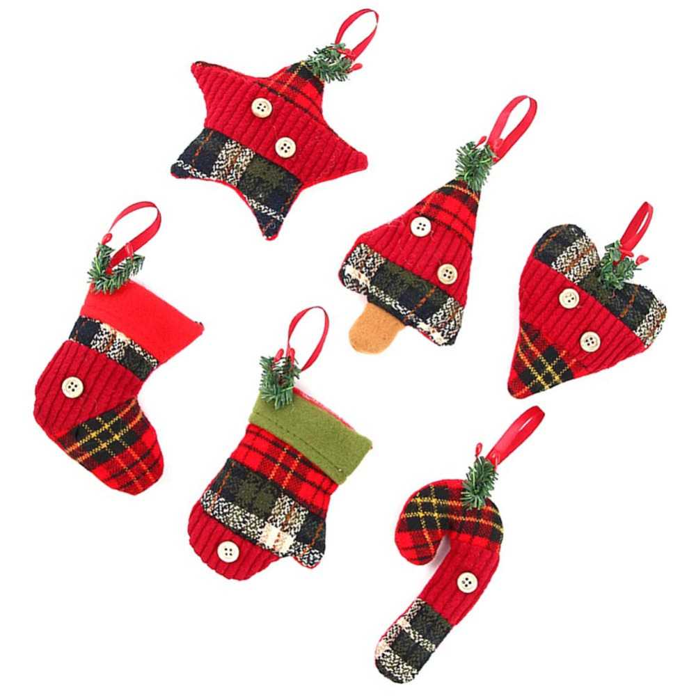 Amazing 6 Christmas Ornaments Part - 9: 2017 New 6 Style Christmas Ornaments Christmas Pendant Creative Christmas  Socks Crutches Gift Pendant Children Party