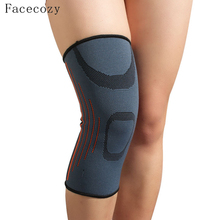 Facecozy 1Pcs High Elastic Knee Pad Sports Dance Knee Support Protector Unisex Sports Safety Breathable Basketball Kneepads(China)