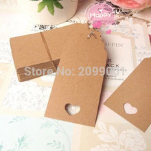 50pcs Vintage Gift favor tags Rustic wedding wish tree present tag baby bridal shower Birthday Blank Card DIY Scrapbook handmade