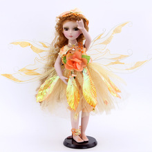 Orange Dream Princess costume retro porcelain doll Flower Fairy Elf  girl's gifts home furnishings