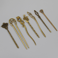 New Bronze Vintage Hair Sticks 17 Styles Headbands For Women Elegance Lady Hairpins Fashion Alloy Hair Clip Hair Accessories(China)