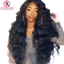 250% Density Lace Front Human Hair Wigs For Black Women Pre Plucked With Baby Hair Body Wave Brazilian Lace Wig Rosa Queen Remy(China)