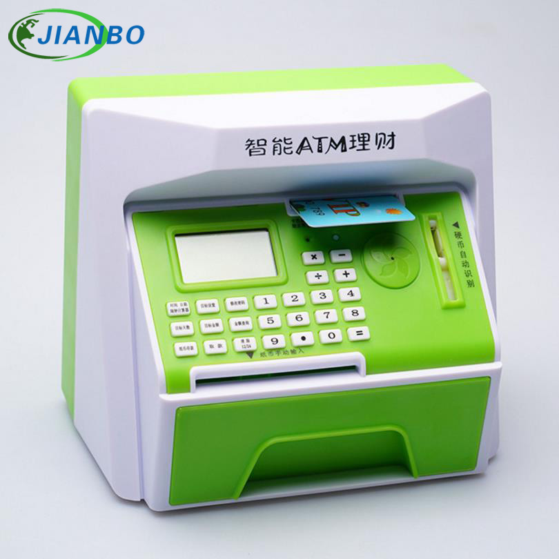Wholesale 5 Colors Safety Electronic Piggy Bank Mini ATM Money Box Password Digital Coins Cash Deposit Children Gift In Chinese<br>