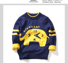 2016 new winter sweater boys and girls children's bunk pullover cartoon Elephant for 3-8T