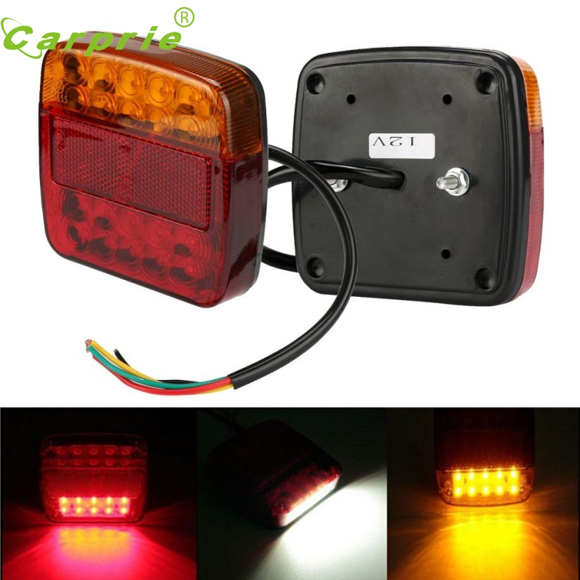 New Arrival Car-styling 2 Trailer Truck 26 LED Taillight Brake Stop Turn Signal License Plate Light Lamp at12<br><br>Aliexpress