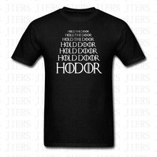 Summer Hold The Door Game Of Thrones T-shirt 100% Cotton HODOR Men Women Harajuku Cotton Print Short Sleeve O Neck Tshirt Tops