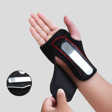 Sport Wristband Wrist Straps Gym Protector Safety Wrist Straps Fixed Palm Steel Wrist Support Brace For Carpal Tunnel