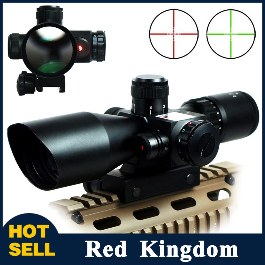 Tactical 2.5-10x40 20mm Rail Mount For Rifle Red Green Dot Optic Scope Laser Sight Cross<br><br>Aliexpress
