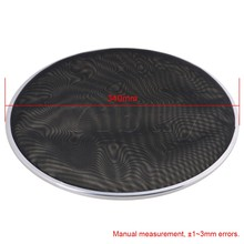 Yibuy 342mm Diameter Black Double Ply Mesh Silent Drum Head Drum Skins Percussion Accessories for 13nch Drum Kit Set(China)