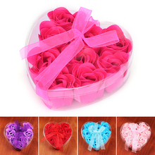 9Pcs/Pack Scented Bath Body Rose Soap Romantic Wedding Favor Shower Home Party Christmas Birthday Valentine's Day Gifts(China)