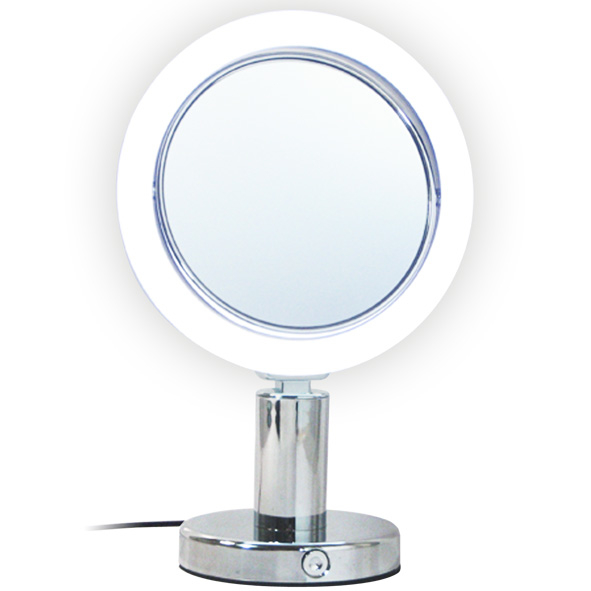 Rucci M894 7x and 1x Magnification Led Chrome Stand Mirror (1)
