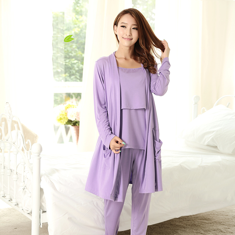 MamaLove 3Pcs maternity clothes maternity Pajamas breast feeding sleep nursing clothing nursing Pajamas for pregnant women<br>
