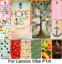 For Lenovo p1m Fortunately luminous tree Don't touch my phone printing case For Lenovo vibe p1m Phone case back cover skin shell