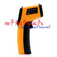 by dhl or ems 100pcs Temperature Meter Gun Point LCD Display Digital IR GM320 Non-Contact Laser Infrared -50~330 Degree(China)