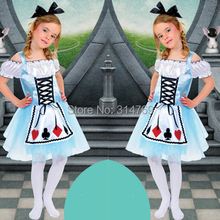 Buy Kid Style Alice wonderland Costume Maid Cosplay Children Alice Personality Poker Maid Costume Halloween Store) for $21.49 in AliExpress store