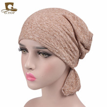 New Hot Sale Women Cotton Chemo Hat Beanie Headscarf Turban Headwear For Cancer Patients Ladies Headband