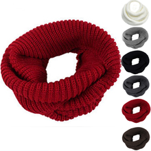 New Fashion Women Men Comfort Warm Infinity 2Circle Cable Knit Cowl Neck Scarf Shawl