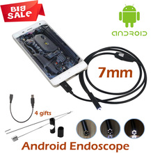 7mm USB Endoscope Android OTG USB Endoscope Camera 5M 3.5M 2M 1M IP67 Waterproof SnakeTube inspection Borescope Android Camera
