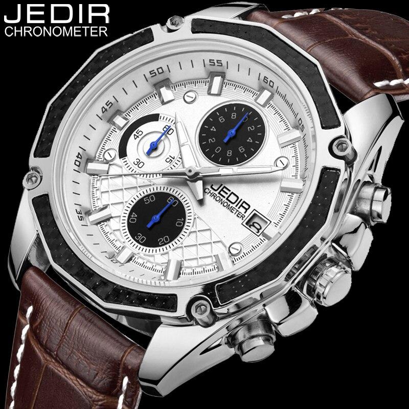 JEDIR Mens Watches Top Brand Luxury Leather Quartz Watch Men Sport Wristwatch Chronograph Luminous Hands Clock relogio masculino<br><br>Aliexpress