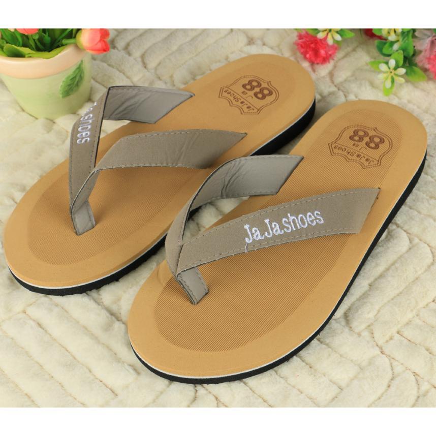 New Brand 2017 Man Flip-flops Slippers Men Beach Sandals Summer Indoor &amp; Outdoor Slippers Best Gift Drop Shipping Dec27<br><br>Aliexpress