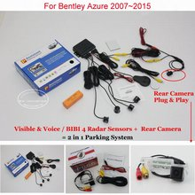 Liislee Car Parking Sensors + Rear View Back Up Camera = 2 in 1 / Alarm Parking System For Bentley Azure 2007~2015(China)
