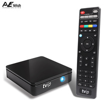 Anewish Mini TVIP 410 412 S Box Amlogic Quad Core 4GB Linux Android 4.4 Dual OS Smart TV Box H.265 Airplay DLNA Mag 250 Mag254