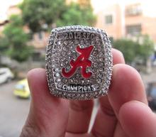 Free Shipping 2015 ALABAMA CRIMSON TIDE SEC FOOTBALL CHAMPIONSHIP RING Solid Size 11 Fan Brithday Gift Wholesale